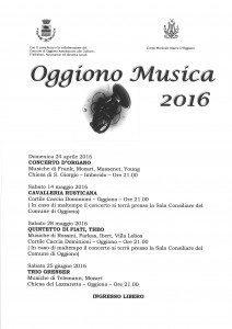 Oggiono Musica 2016
